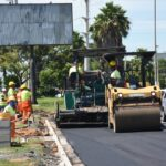 Prefeitura inicia asfaltamento na terceira faixa de rolagem na avenida da Emancipação